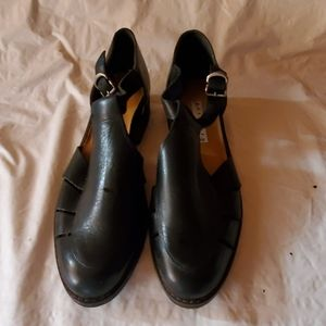 Partners black leather shoes size 9M